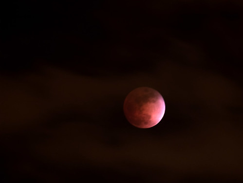 Lunar Eclipse Through the Clouds