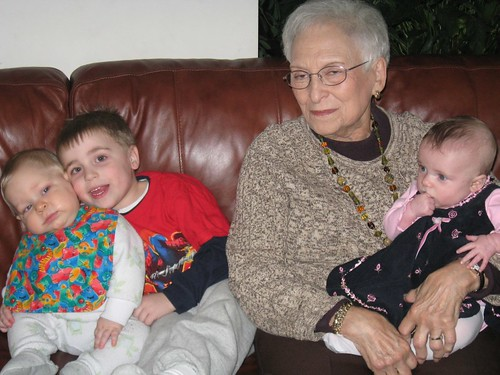Mimi & Great grandkids - take 1