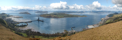Clyde panorama above Fairlie