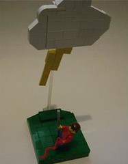 Lucky Flag (Battledog) Tags: lego flag lightening unlucky joevig