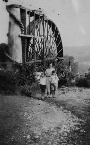 Laxey Water Wheel Glen Gardens Isle of Man 1930's