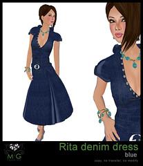 [MG fashion] Rita denim dress (blue)