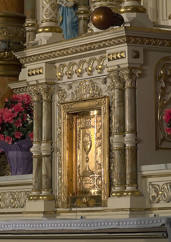 Saint Anthony of Padua Roman Catholic Church, in Saint Louis, Missouri, USA - tabernacle
