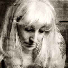 """""""For a long time I felt without style or grace"""" / Day 276 Year 2 (sadandbeautiful (Sarah)) Tags: portrait woman selfportrait texture me tattoo sepia female self wig yeartwo talkingheads 365days selfiesquared day276y2"""