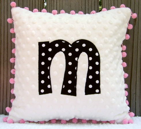 Applique Initial Pillows for Kids