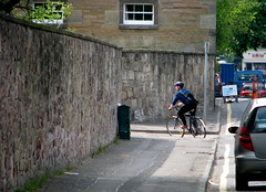 turning left (chdot) Tags: edinburgh guessed cyclingedinburgh whereedin chrisdoniawon