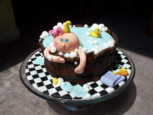 Baby in the bath cake