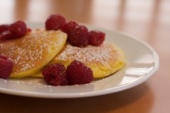 Hissy Fit Inducing Ricotta-Lemon Pancakes (erincooks) Tags: pancakes breakfast lemon healthy berry ricotta raspberries williamssonoma erincooks