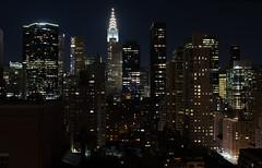 Good Night Gotham. (Julien Prénat) Tags: buildings fuji fujix100s gothamcity manhattan newyork night ny nyc