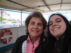 Maman et moi en bateau