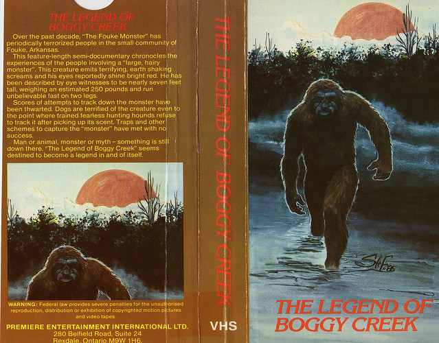 The Legend Of Boggy Creek (VHS Box Art)