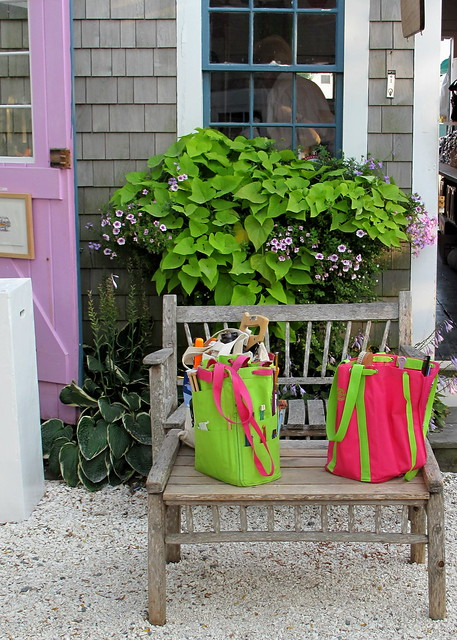 pink & green bags, Nantucket