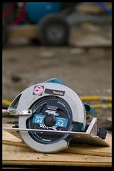 Habitat for Humanity (Eric Flexyourhead (YVR catch-up mode!)) Tags: canada bc britishcolumbia burnaby habitatforhumanity constructionsite makita powertool circularsaw zd olympuse500 40150mm