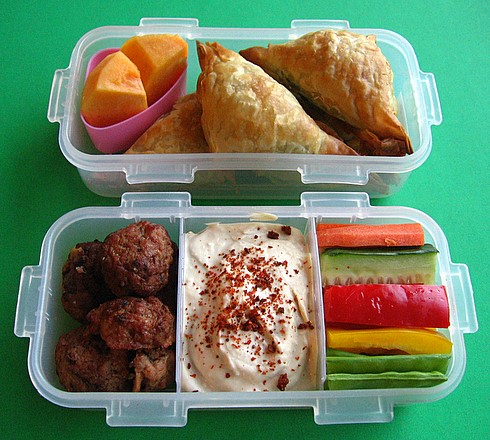 Spanakopita bento lunch