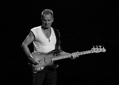 Sting and His Ratty Old 1955 Bass (Scott Ableman) Tags: d50 concert published bass sting ska dcist blogged rocknroll bassguitar shanghaiist facebook pbass thepolice 18200mmf3556gvr policeconcert