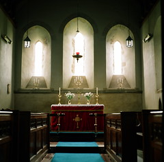 Church of St David, Llanddew, Wales - Zeiss Super Ikonta B 532/16 6x6 (VEB Zardoz the Gravyboat) Tags: uk color colour classic 120 6x6 film apple church wales architecture zeiss vintage mediumformat square frozen mac village kodak unitedkingdom britain religion cymru documentary rangefinder software squareformat vintagecamera iphoto mf christianity welsh analogue manual zeissikon folder 1950 thebeast stdavids galles palabra superikonta foldingcamera tessar documentaryphotography germancameras germancamera  llanddew  superikontab 1950camera 53216 foldingmediumformatcamera optontessartf28 placeofhistoricinterest  tessar80mmf28  foldingrangefindercamera mediumformatfolder zeissikonsuperikonta53216 monsterfolder tcoating frozenonfilm