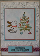 A christmas card with Penny black's stamp 2