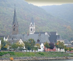 The Romantic Rhine: Koblenz to Bingen (bill barber) Tags: church rain architecture germany deutschland bill arquitectura william steeple spire german elements barber architektur alemania ren colonia reno rhine rhein tyskland architettura bundesrepublik casanova rin rijn germania alemanha koblenz duitsland deutsche arkitektur wesel moselle bingen rivercruise photoshopelements architectur lallemagne westphalia rhin rhinewestphalia billbarber rhinelandpalatinate doitsu niemcy njemaka saksa nmetorszg coblence coblenz kircke njemacka  nemecko romanticrhine rhenus wdwbarber northernrhine covelenz williambarber peterdeilmann bbarber1 mscasanova germnia
