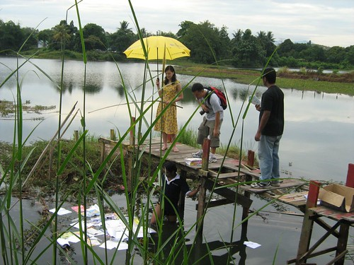 Prepping the pond scene for Carmen Soo 2