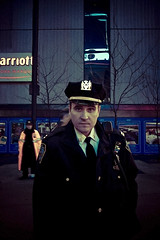 The man behind the Cop (Luis Montemayor) Tags: street nyc people usa newyork man calle gente explore cop hombre policia myfavs
