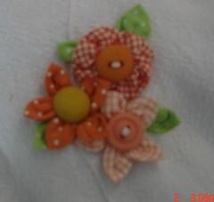 mais flores para meu jardim... (Maria Sica) Tags: flores fuxico tecido fuxicoartesanato