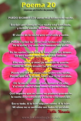 poemas en espanol. Poema 20 - Pablo Neruda