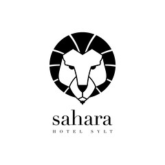 Sahara Logo (Sebastian Br) Tags: white black sahara logo typography hotel design lion typo simple sylt didot examination finalexamination