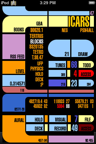iCars, a Star Trek LCARS Summerboard Theme for iPhone an