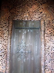 (Shane Henderson) Tags: door carving norwegian relief disneyworld epcotcenter interlace norse baylake