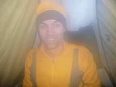 Foggy Jeff in the tent (bzo) Tags: oregon twinlakes jeffhulbert