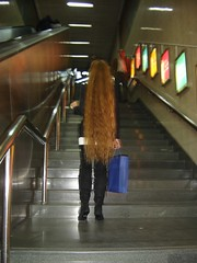 On the way to the top (Time-Freeze) Tags: stairs shopping hair shanghai longhair explore timefreeze