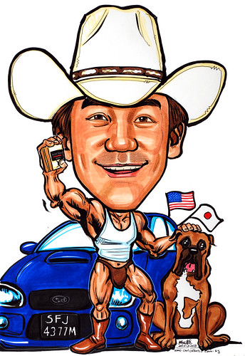 Caricature cowboy boxer Subaru