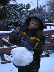 winter gear and snowball