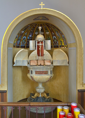 Saint Joseph Shrine, in Saint Louis, Missouri, USA - baptismal font