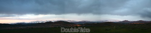 snowy san diego mountains panorama