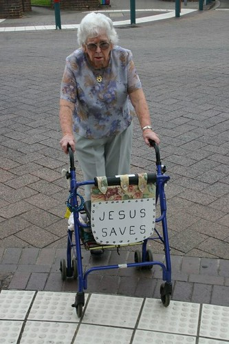 Jesus saves! Elderly in Nowra, NSW.
