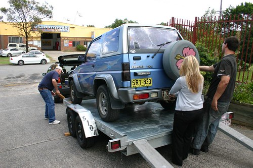 Helping the Tyler's with the car in Gosford, north of Sydney.