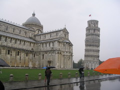 Leaning Tower and Cathedral (Nicole Poirier) Tags: italy pisa leaningtower