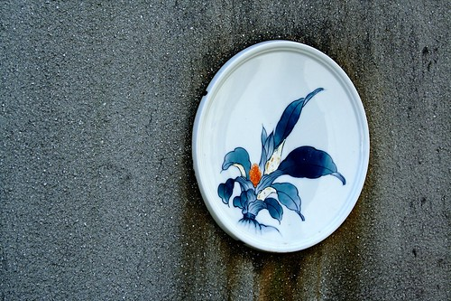 plate in the wall