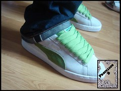 Natural Green Suedes (Professor B) Tags  clyde basket lace fat states puma  suede f2939c3b4