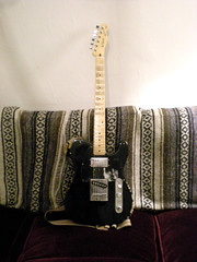 Cheap & Cheerful (Sumlin) Tags: chris black love andy silver design seth tech guitar deluxe wide fender modified tele series custom range 1990 lords p90 farrell squier telecaster summerlin humbucker harmonic sd90 whatthehellisarelic