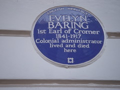 Photo of Evelyn Baring blue plaque