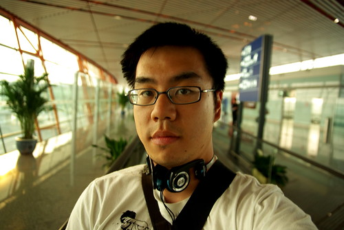 Cedric at Beijing Airport