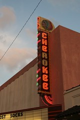 the cherokee theatre neon sign
