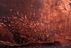 Ute petroglyphs, Big Dominguez Canyon, CO  4/08 (travelingwild) Tags: rockart petroglyphs dominguezcanyon