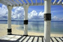 Pandanon (Farl) Tags: travel sea vacation beach colors coast sand horizon philippines resort bohol visayas getafe pandanon columnade philippinesn jetafe