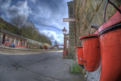 firebuckets....... (Vic Nic) Tags: station train nikon trains steam d200 railways goathland grosmont leveland anawesomeshot diamondclassphotographer flickrdiamond goldstaraward