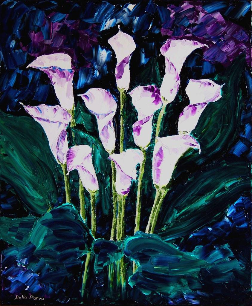Calla Lilies White Flowers by Delia Parvu