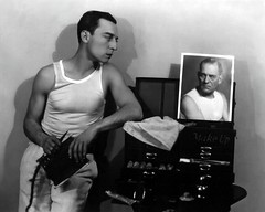 buster and lon (Stella Sabata comes to Kill!) Tags: vintage comic antique handsome actor legend talented silverscreen busterkeaton silentcinema