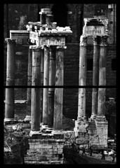 composition (claudia_perilli) Tags: italy sculpture rome roma temple italia arte foro romano ars lazio fori rovine scultura tempio italybw monumentiromamor romanitas